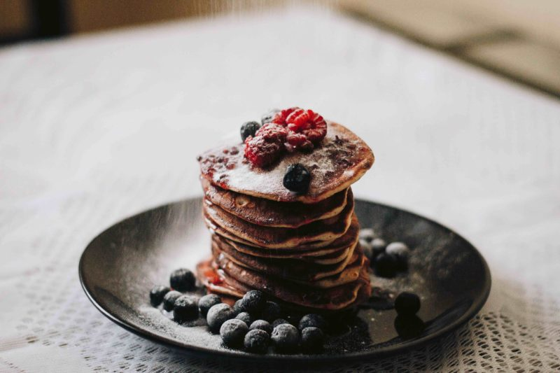 lemon berry protein pancakes