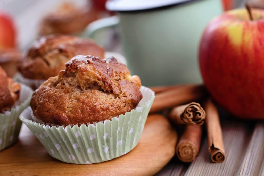 homemade clean eating apple cinnamon protein muffins