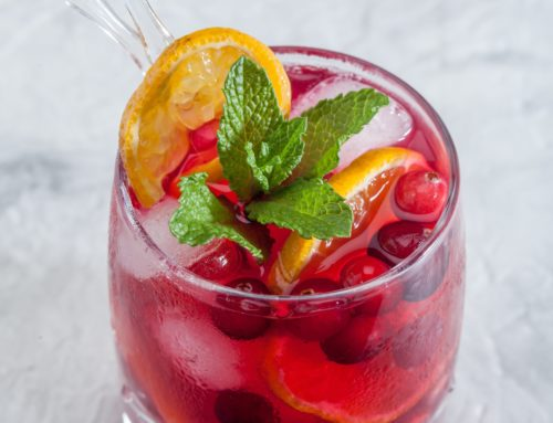 Healthy Cranberry Spritzer