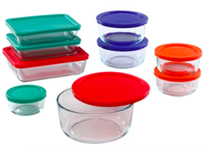 pyrex glass storage for meal prep