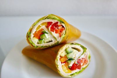 mango habanero turkey wrap