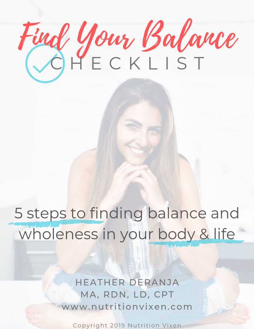 free find your balance checklist for a holistic and balanced life